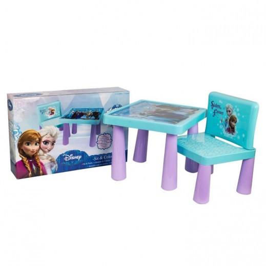 Disney Frozen Sit & Colour Kids Desk