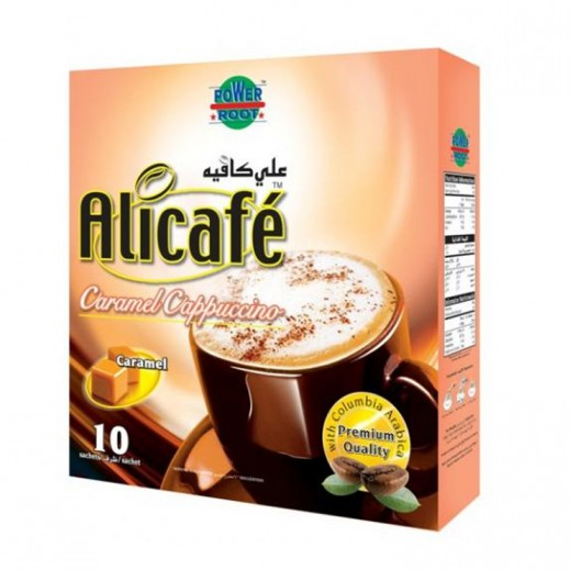 Ali Cafe Caramel Cappuccino Coffee 10x20 g