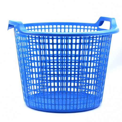 Buy Plastic Round Laundry Basket Blue Large