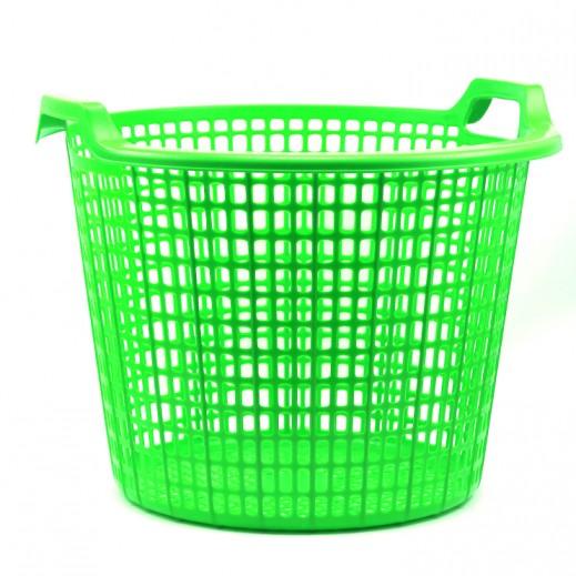 Plastic Round Laundry Basket Green - Large