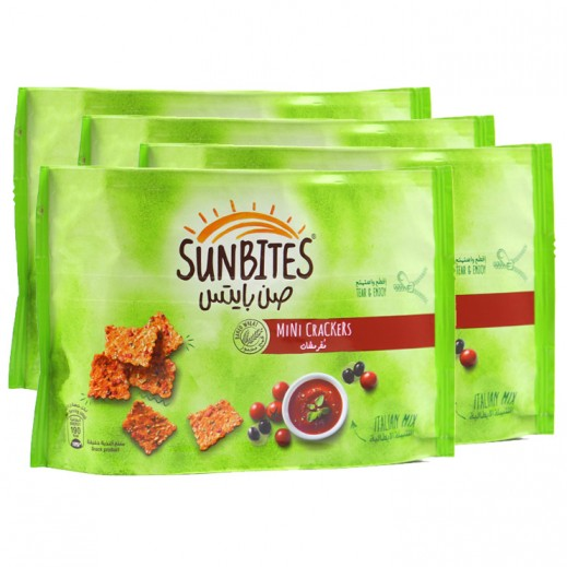 Sunbites Italian Mix Mini Crackers 4x40 g