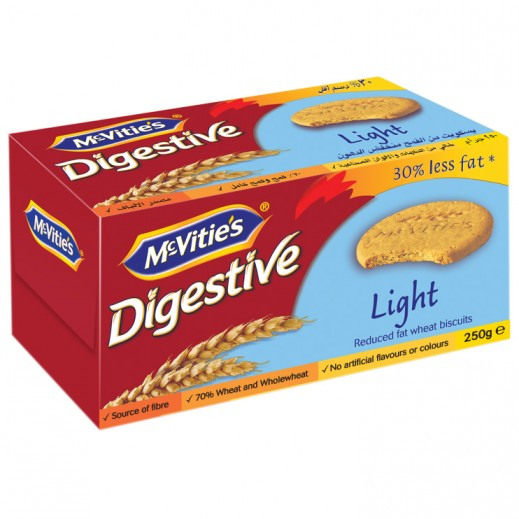 Mc Vitie's Light Digestive Biscuits 250 g