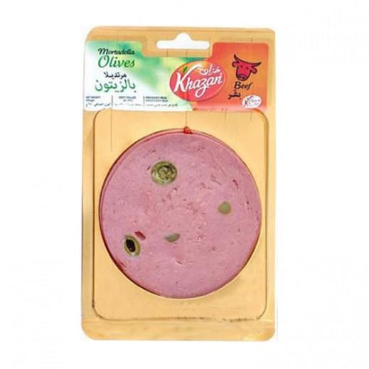 Khazan Olives Mortadella Slice 250 g