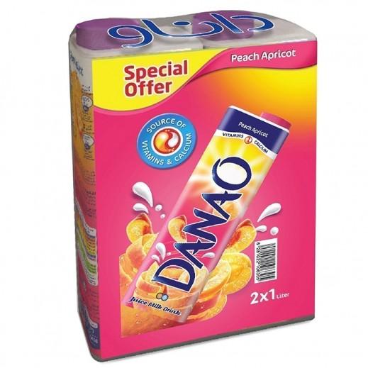 Special Offer - Danao Juice Milk Drink Peach Apricot 2 x 1 L