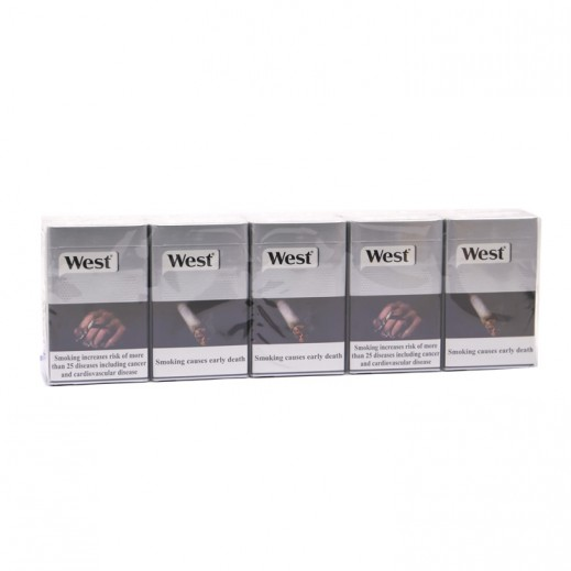 West Silver Filter Cigarettes (Ctn)
