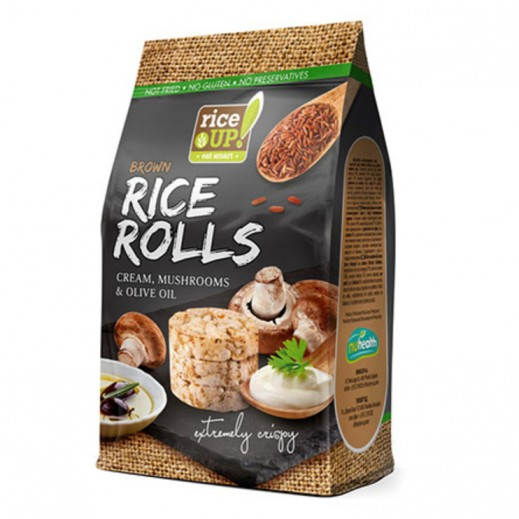 Rice Up Brown Gluten Free  Rice Rolls with Cream & Mushrooms & Olive Oil 50 g