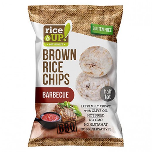 Rice Up Gluten Free  Brown Rice Chips with Barbeque 60 g