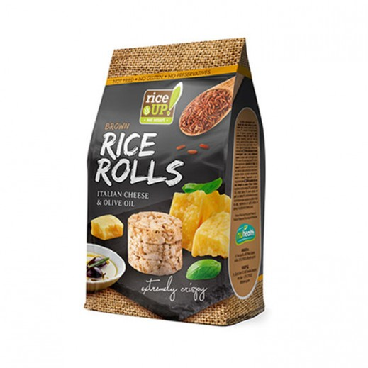 Rice Up Brown Gluten Free Rice Rolls with Italian Cheese & Olive Oil 50 g