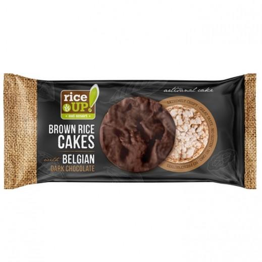 Rice Up Brown Rice Cakes With Belgian Dark Chocolate 90 g