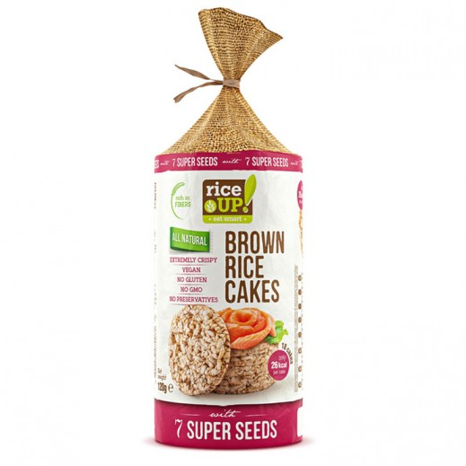 Rice Up Gluten Free  Brown Rice Cake with 7 Super Seeds 120 g