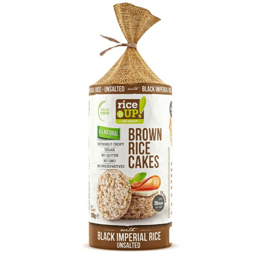 Rice Up Gluten Free  Brown Rice Cake with Black Imperial Rice Unsalted 120 g