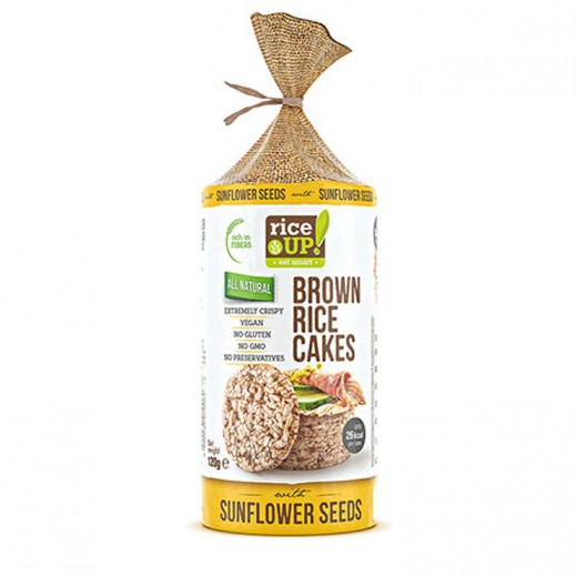 Rice Up Gluten Free  Brown Rice Cake with Sunflower Seeds 120 g