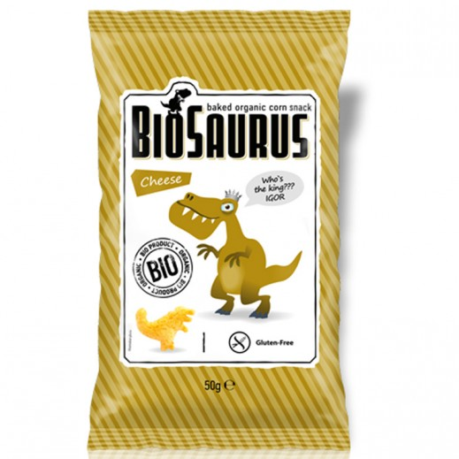 Biosaurus Organic Baked Corn Snack with Cheese 50 g