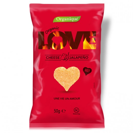 Organic Love Organic Corn Snack With Cheese & Jalapeno 50 g