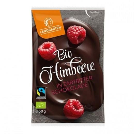 Landgarten Organic Raspberries in Berry Chocolate 50 g