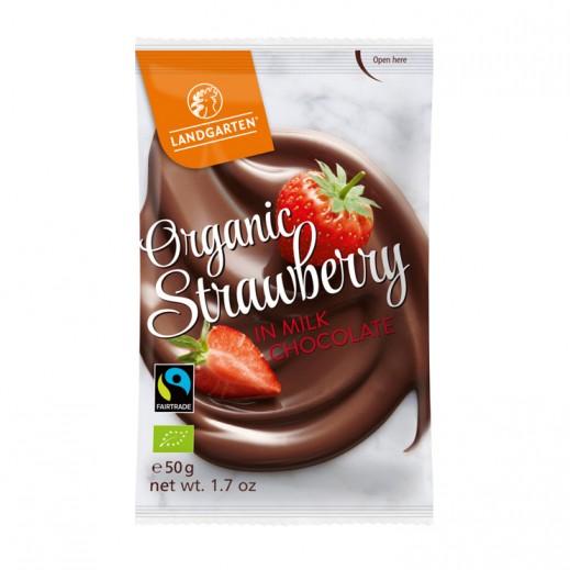 Landgarten Organic Strawberry Millk Chocolate 50 g