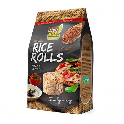 Rice Up Brown Gluten Free  Rice Rolls with Pizza & Olive Oil 50 g