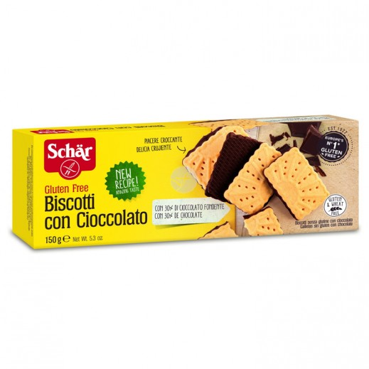 Schar Gluten Free Biscuits with Chocolate 150 g