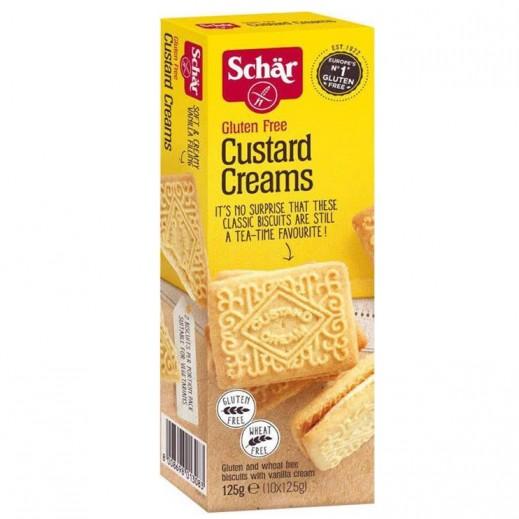 Schar Gluten Free Custard Creams Biscuits 125 g