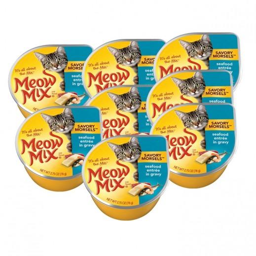 Meow Mix Seafood Entrée (Cat Food) 78g (8 Pieces)