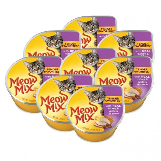 Meow Mix Turkey & Giblets (Cats Food) 78 g  (8 Pieces)