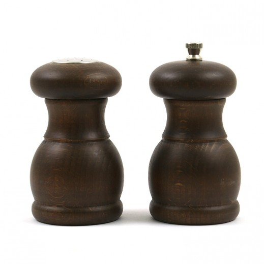 Bisetti Dark Wood Pepper Mill Set - 2 Pieces