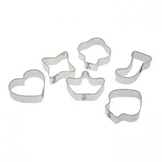 Pedrini Assorted Cookie Cutters 6 Pieces