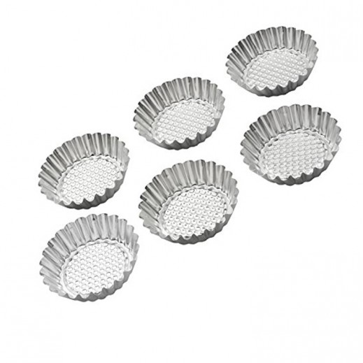 Pedrini Stainless Steel Pastry Moulds 6 Pieces