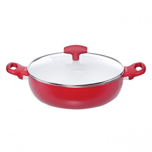 Pedrini Ceramic Non Stick Sauce Pan with Lid 24 cm