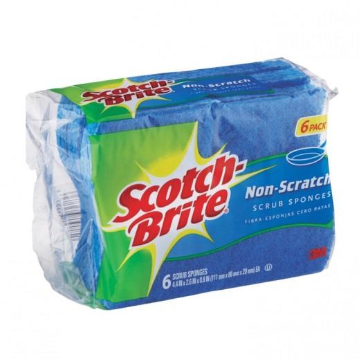 Scotch-Brite Non Scratch Scrub Sponges - 6 Pieces