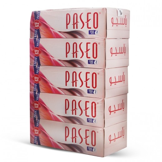 Paseo White 150 Facial Tissues (5 pieces)
