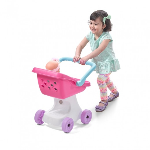 Step2 Love & Care Doll Stroller - Pink - delivered by Shahaleel After 2 Working Days