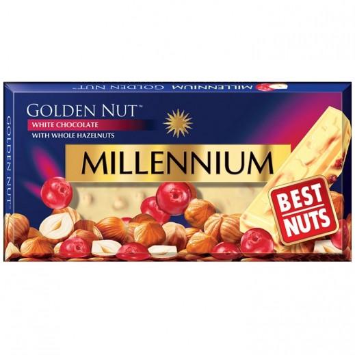 Millennium Golden Nut White Chocolate With Whole Hazelnuts 100 g