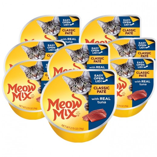 Meow Mix Classic Pate With Real Tuna 8x78 g