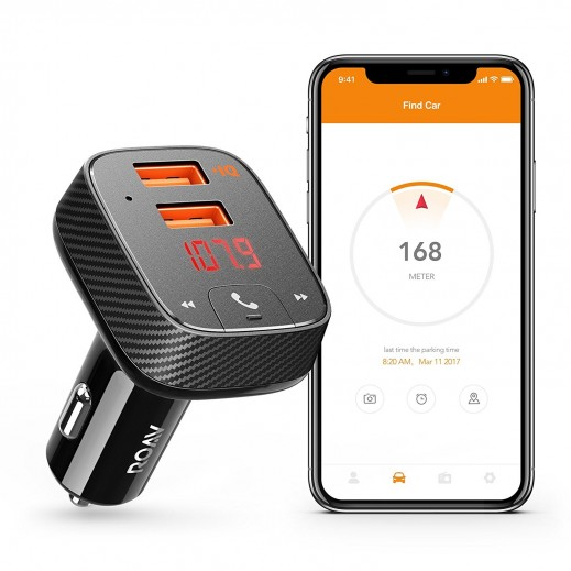 Roav SmartCharge Car Kit F2 with Bluetooth and Car Locator