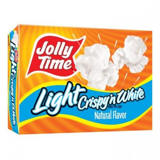 Jolly Time Crispy n White Light Microwave Pop Corn 255 g