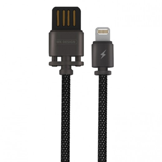 WK Design Lightning Metal Cable for Apple 1 M - Tarnish