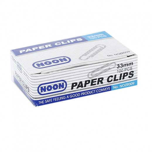 Wholesale - Noon 33 mm Round 100 Paper Clips (60 packs)