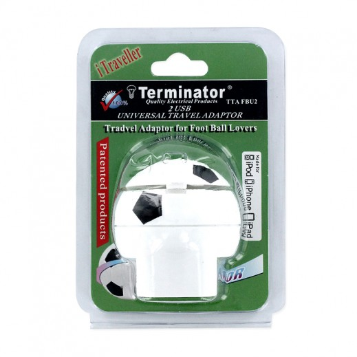 Terminator TTAFBU2 Universal Travel Adaptor For iPhone-iPod & iPad