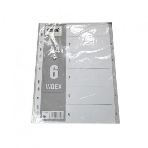 Wholesale - Noon A4 Index Devider 6 sheets (50 pieces)
