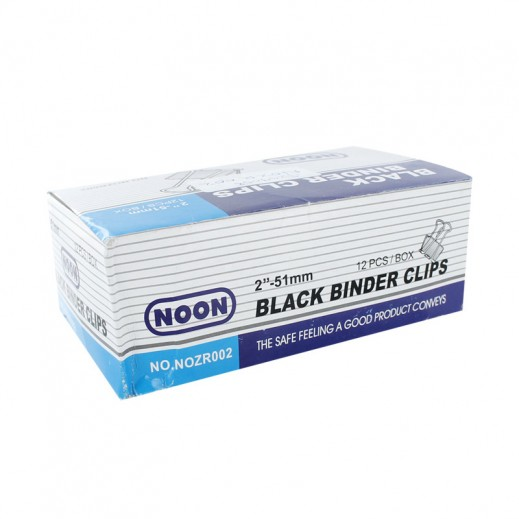 Wholesale - Noon Black Binder Clips 51mm (12 Box)