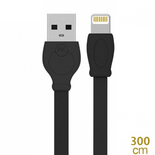 WK Design lightning Cable for Apple 3 M - Black