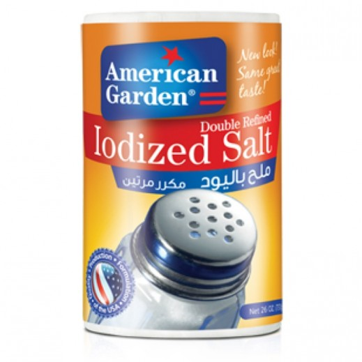 American Garden Iodized Table Salt 737 g