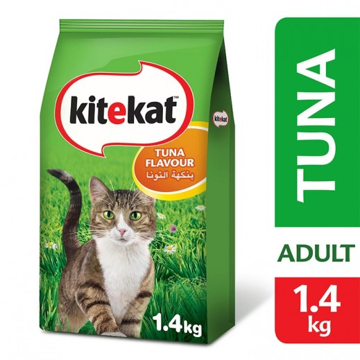 Kitekat Tuna Flavour Dry Adult Cat Food 1.4 kg