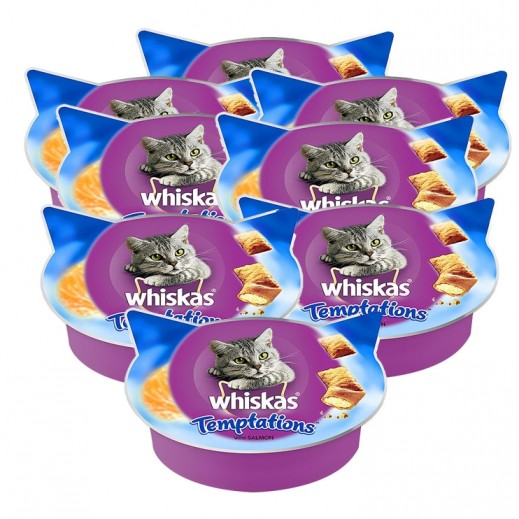 Wholesale - Whiskas Temptations With Salmon Cat Treat 8x60 g