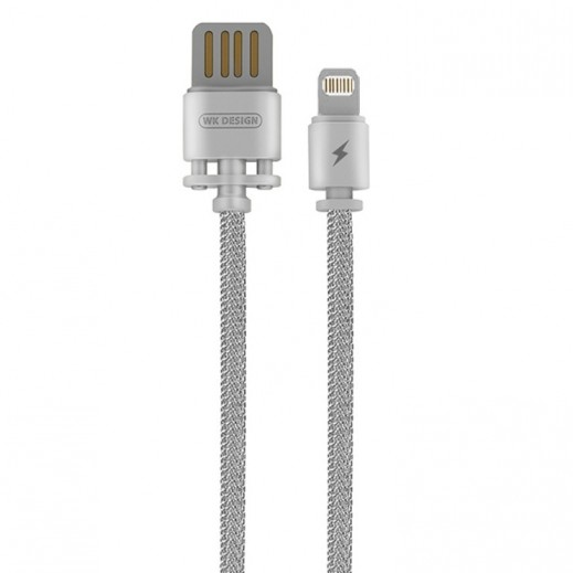 WK Design Lightning Metal Cable for Apple 1 M - Silver