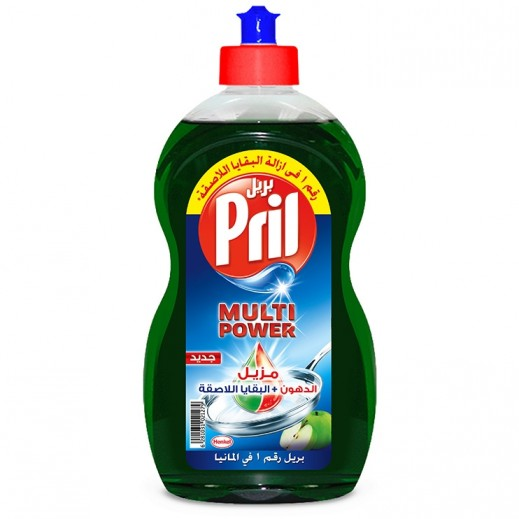 Pril Multi Power Dishwashing Liquid Apple 500 ml