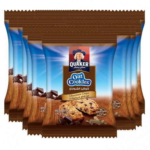 Quaker Chocolate Chip Oat Cookies 30 x 9 g