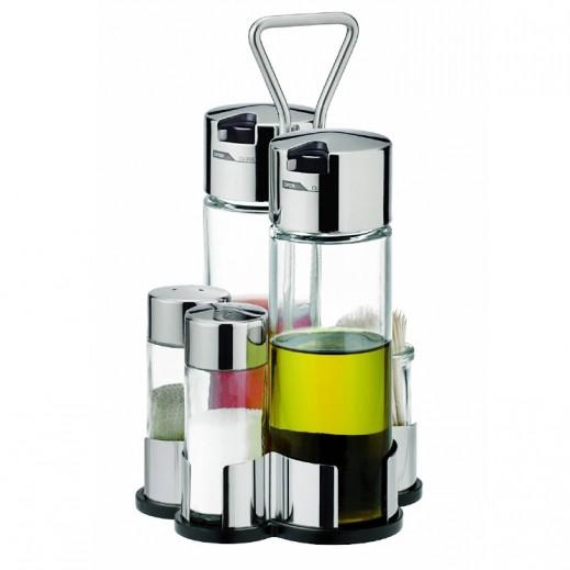 Tescoma Club Oil, Vinegar Salt Pepper And Toothpicks Set