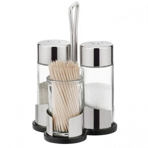 Tescoma Club Salt Pepper And Toothpicks Set